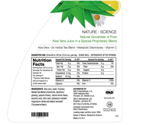 Aloe Vera Plus no GMOs Quart 32 oz #3000