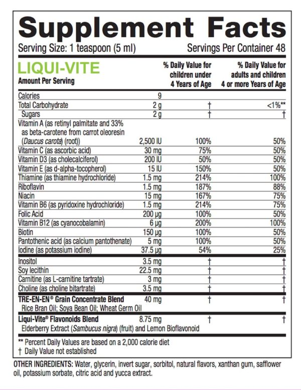 Liqui-Vite 8 oz no GMOs Kosher #3120