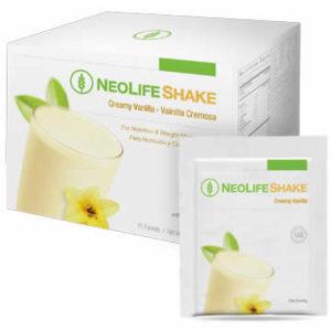 NeoLifeShake Packets-Creamy Vanilla no GMOs 15 packets #3807