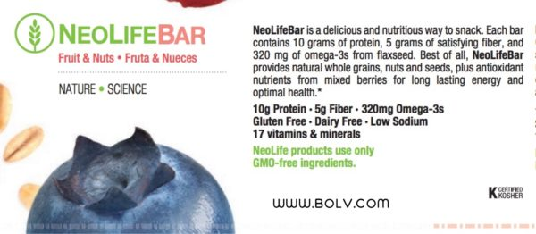 NeoLifeBar Fruit & Nuts Satisfy Hunger