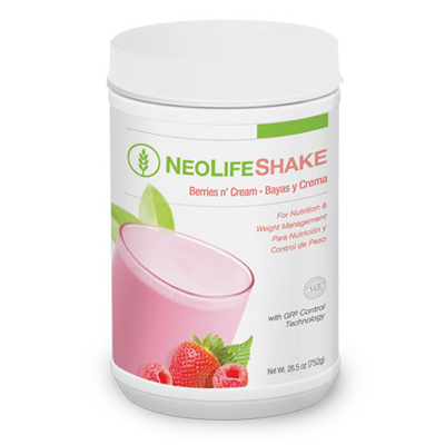 NeoLifeShake - Berries n' Cream no GMOs 15 servings #3805