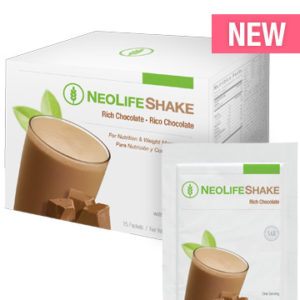 NeoLifeShake Packets-Rich Chocolate no GMOs 15 packets #3809