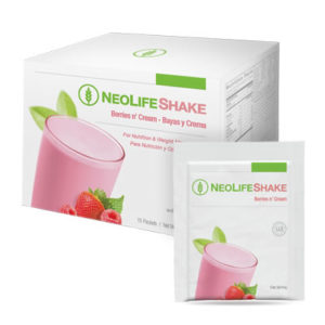 NeoLifeShake Packets-Berries n' Cream no GMOs 15 packets #3808
