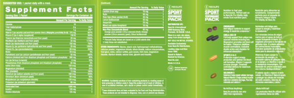 Sport Performance Vitamin Pack-1337