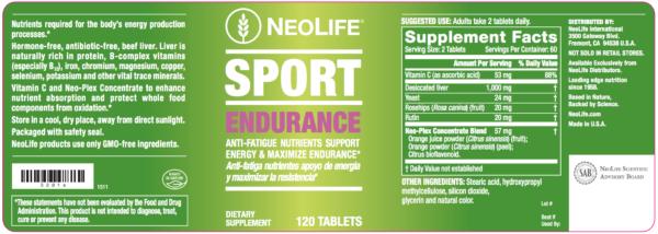 Sport Endurance 120 tabs item 3281-1376