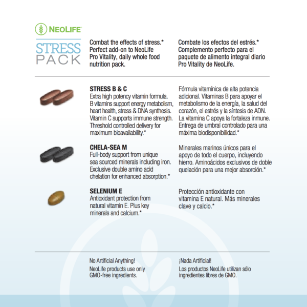 Stress Pack Replenishes Critical Nutrients #3110-1310
