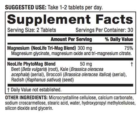 Magnesium Label
