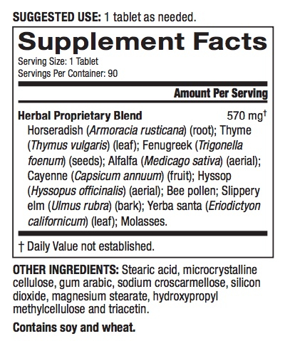 Resp-X ingredients